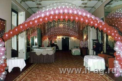 украшение шарами оформление зала праздника