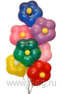 Букет из воздушных шаров Любимой Цветик семицветик