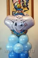 оформление воздушными шарами детского праздника (фото). Нажмите, для просмотра увеличенного изображения