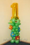 оформление воздушными шарами детского праздника 1 один годик