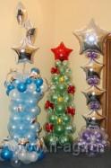 Новогодние композиции из шаров