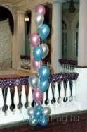 Новогоднее оформление воздушными шарами. Нажмите, для просмотра увеличенного изображения