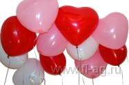 Оформление воздушными шарами для жены