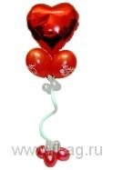 Валентинка из воздушных шаров шариков