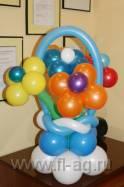 Корзина цветов из воздушных шаров для вашей Любимой