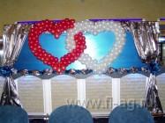оформление воздушными шарами свадьбы. Нажмите, для просмотра увеличенного изображения