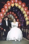 Фото оформление воздушными шарами свадьбы. нажмите, для просмотра увеличенного изображения