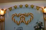 оформление воздушными шарами свадьбы. Цены. Нажмите, для просмотра увеличенного изображения